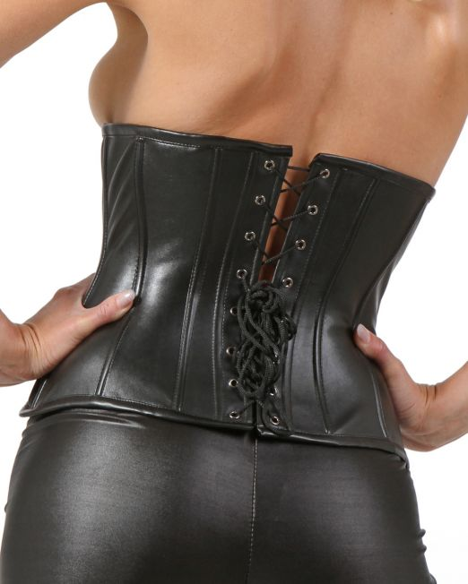 VERO-OVER-Cincher-Corsetto-Bustino-Stringivita-in-Ecopelle-Nero--extra-big-23343-004